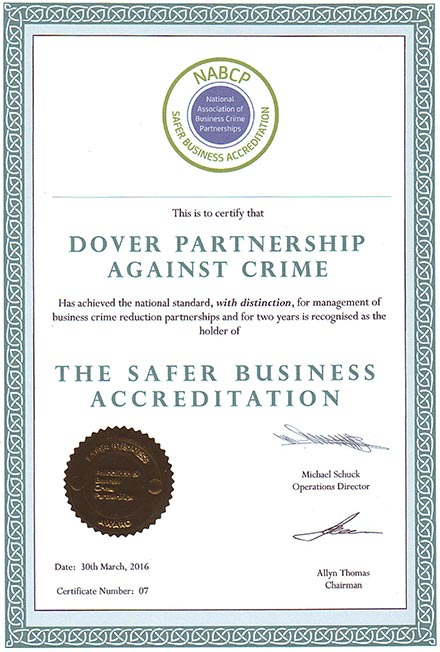 Safer Business Accreditation